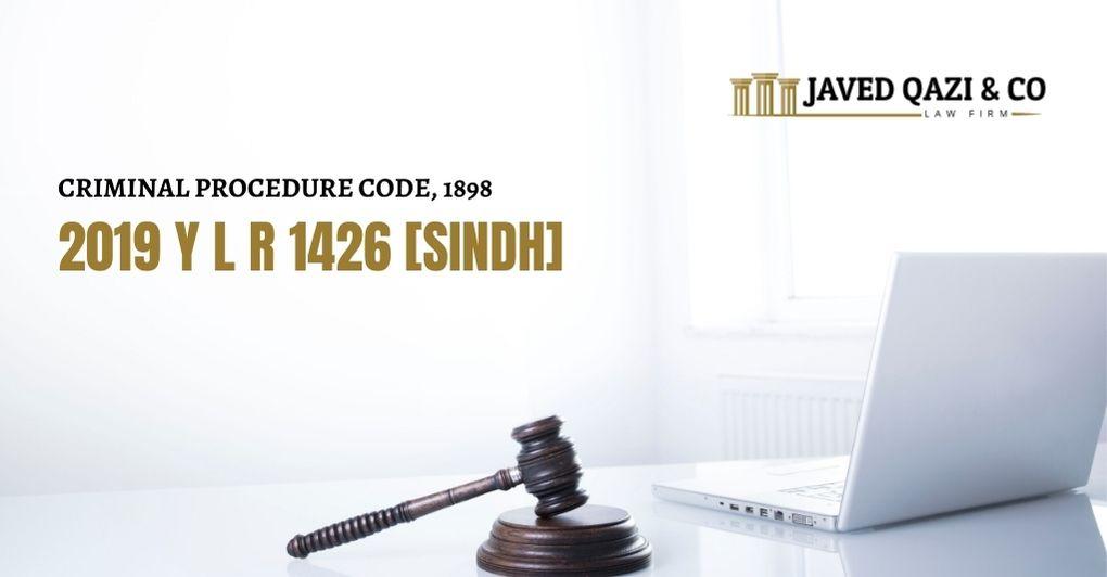 2019 Y L R 1426 [SINDH]