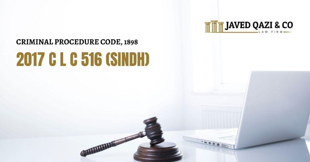 2017 C L C 516 (SINDH)